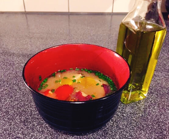 ホクホクさつま芋とトマトの味噌汁