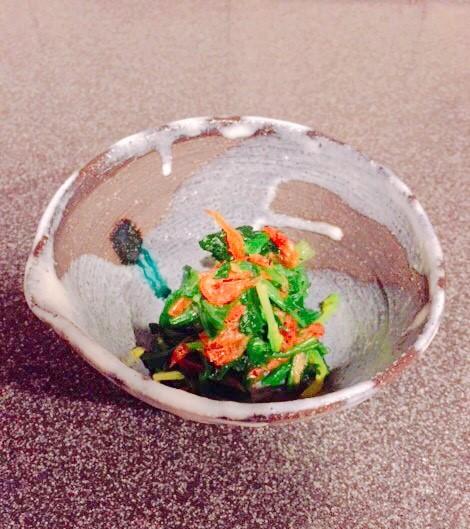 桜海老とほうれん草のナムル