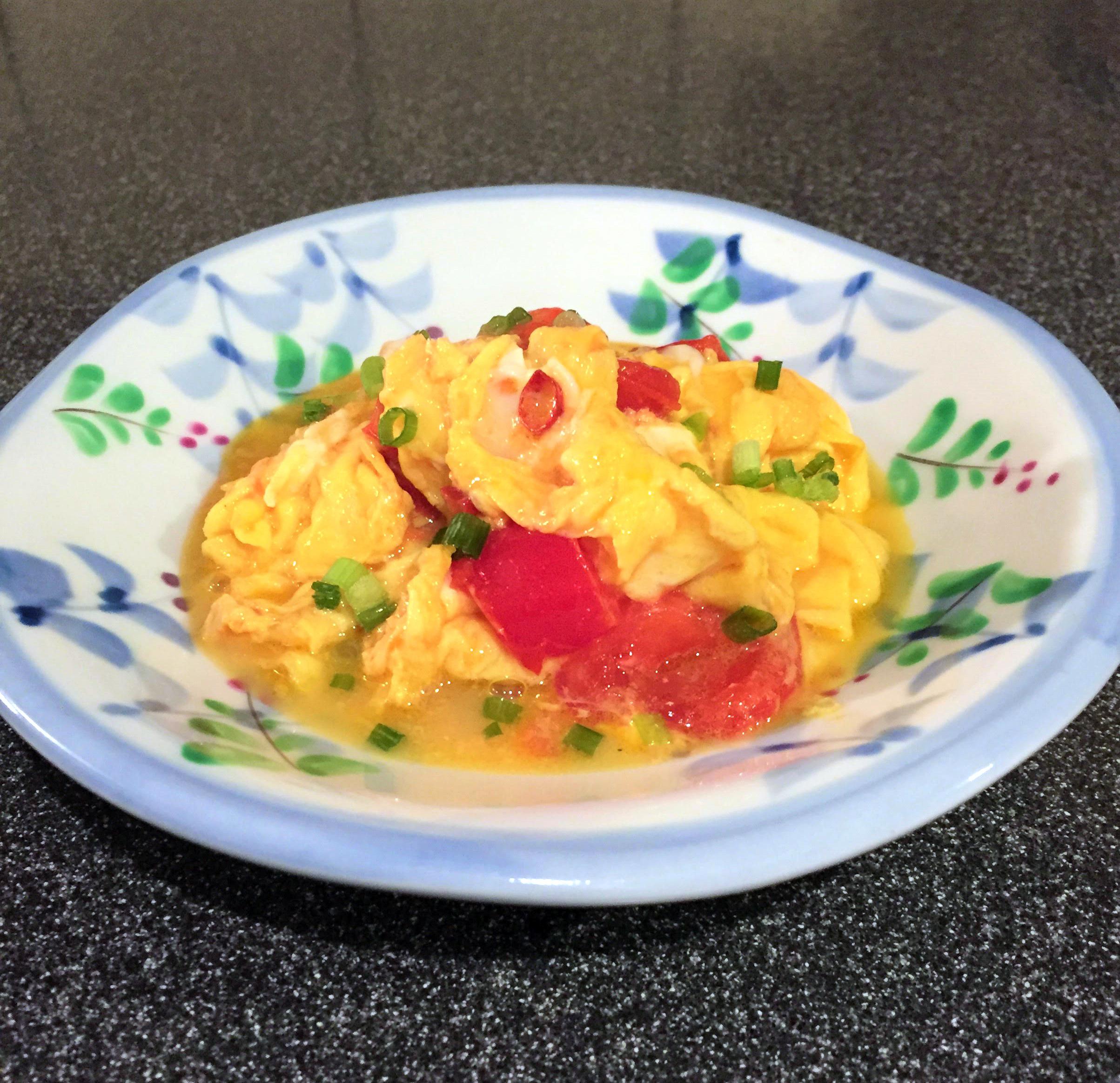 ガーリックオリーブオイルふわとろ卵