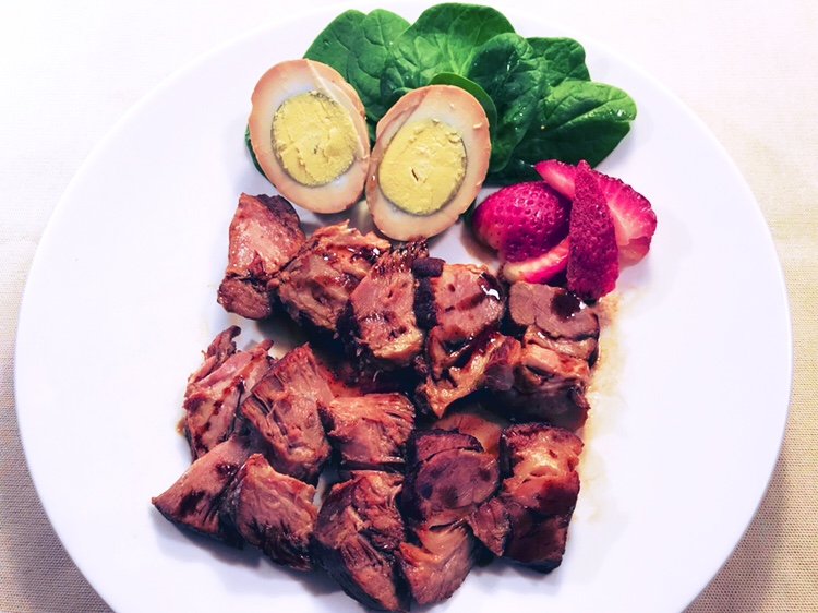 ストロベリービネガーソースの焼豚