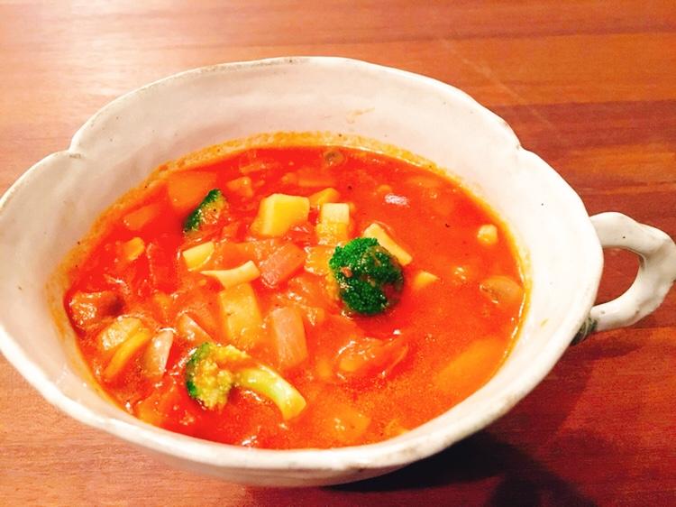 季節野菜のミネストローネ