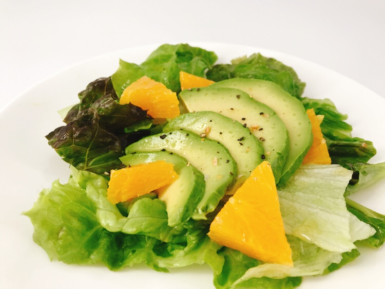 オレンジソースのグリーンサラダ