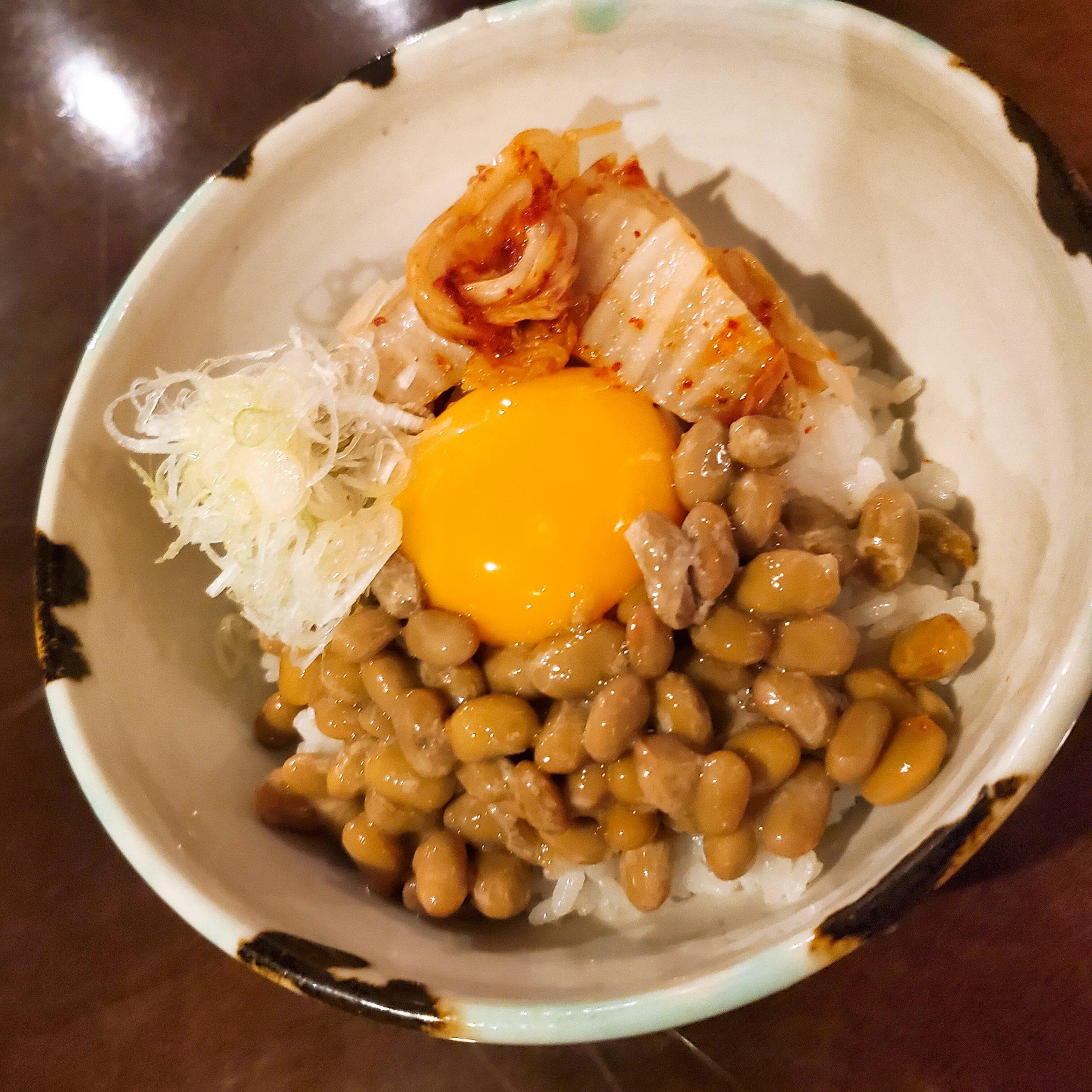 納豆キムチどんぶり