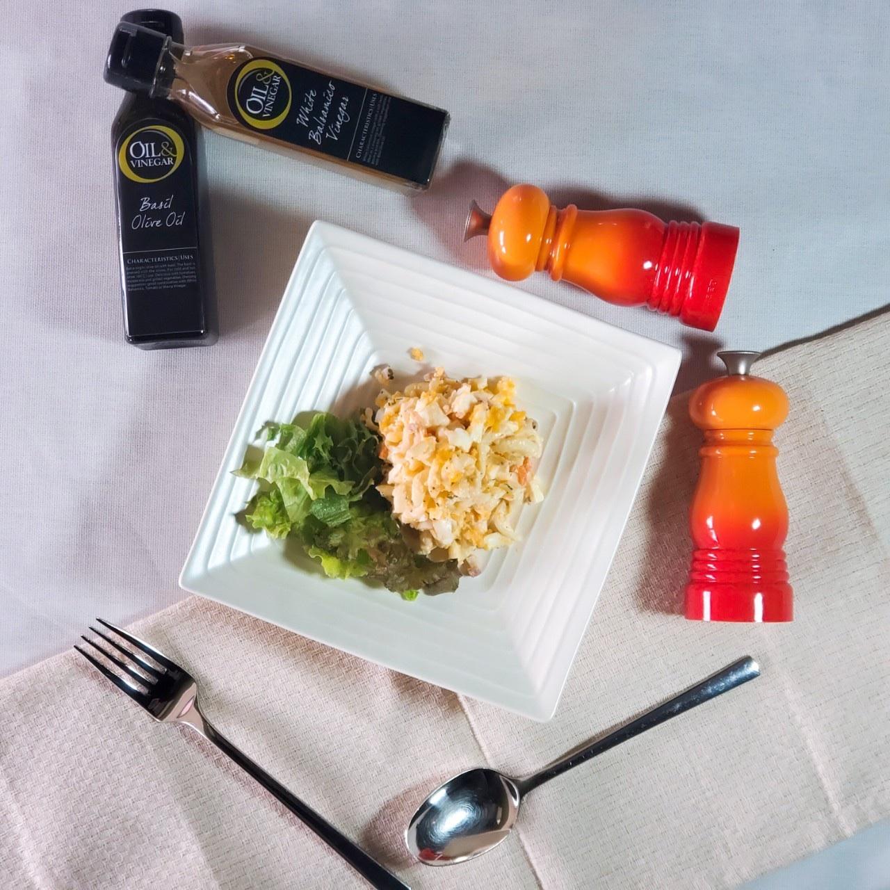 バジル風味のマヨネーズのマカロニサラダ
