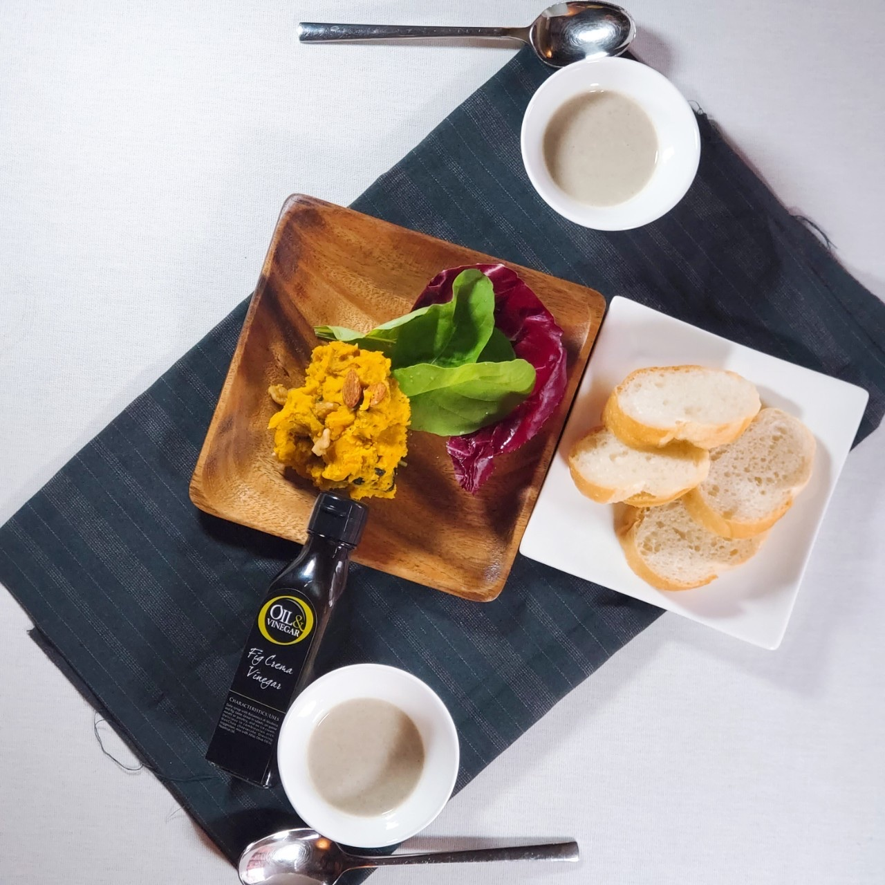 カボチャフィグビネガーサラダ