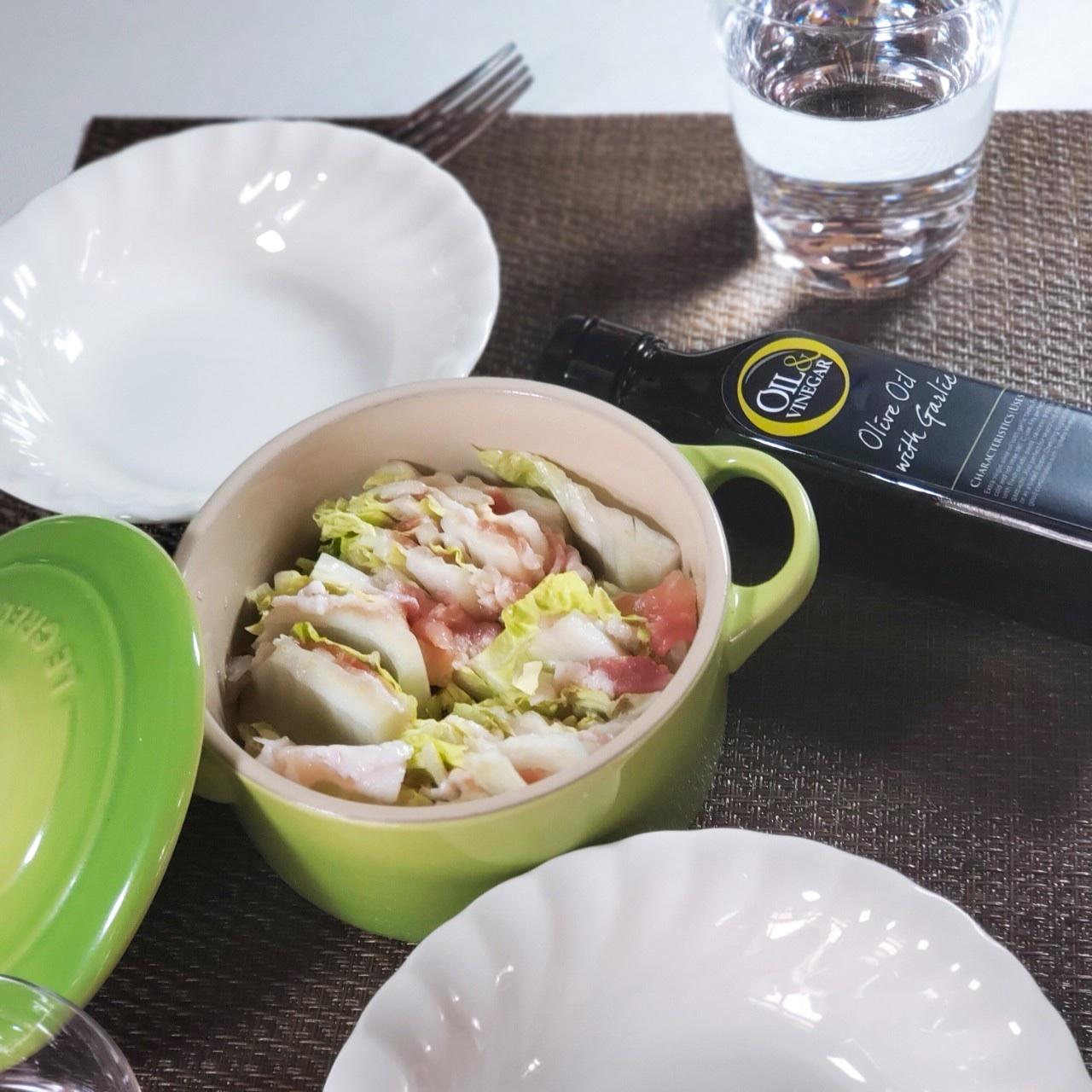 『豚バラ肉と白菜のミルフィーユ』