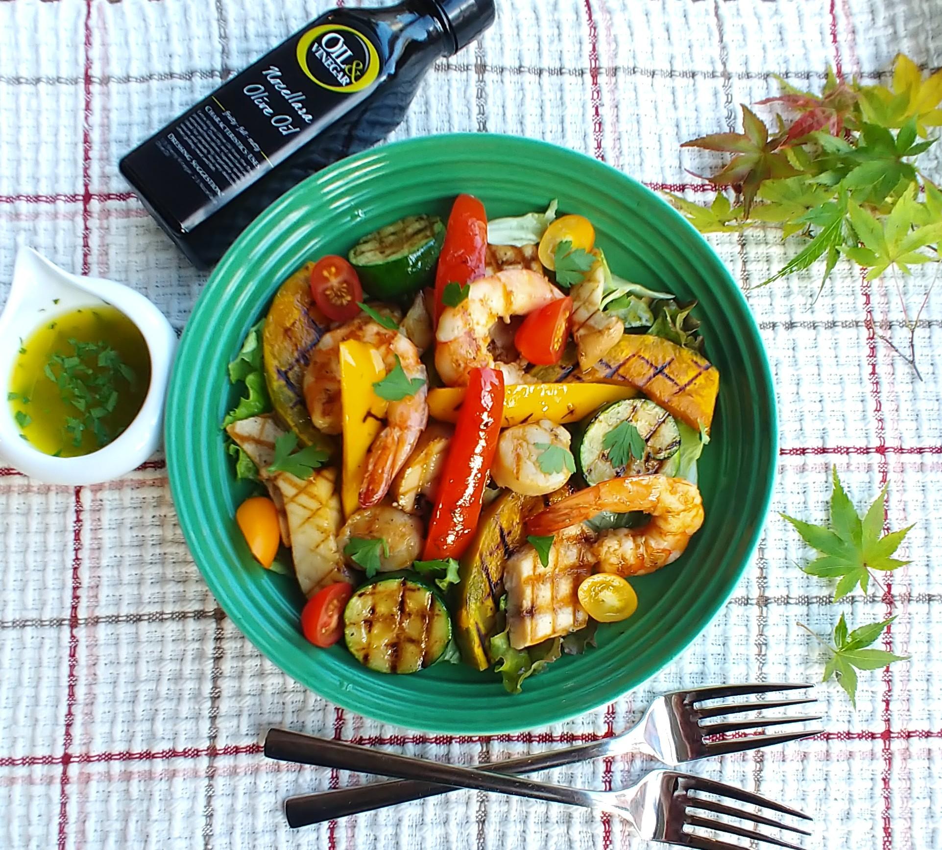 魚介と野菜のグリル サラダ仕立て