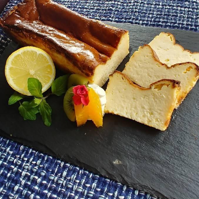 レモンオリーブオイルで作るチーズケーキ