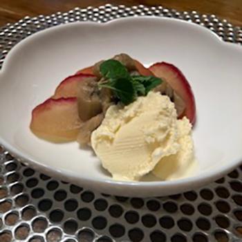 林檎とバナナのコンポートホワイトバルサミコ煮