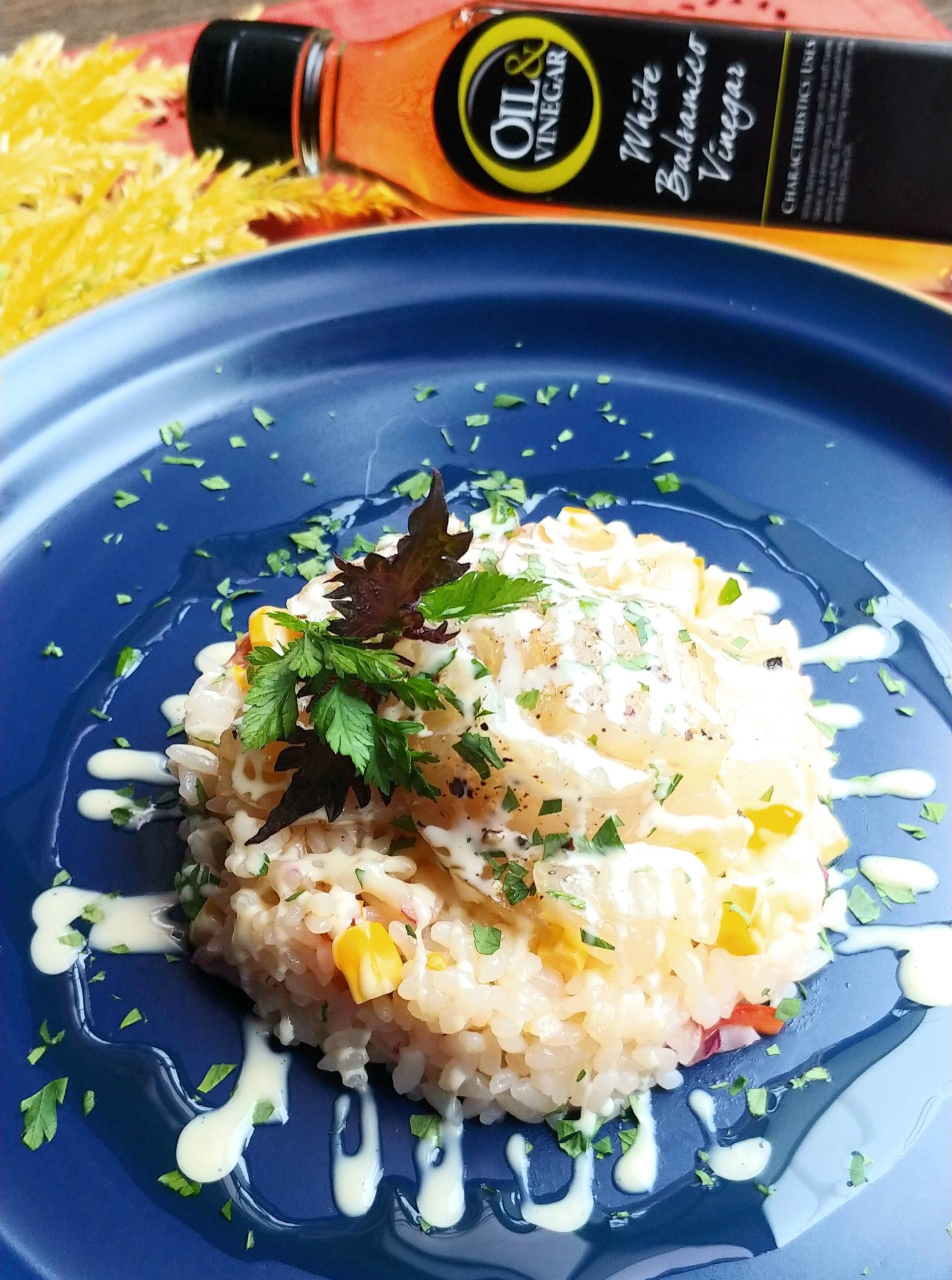 真鯛のカルパッチョとライスサラダ